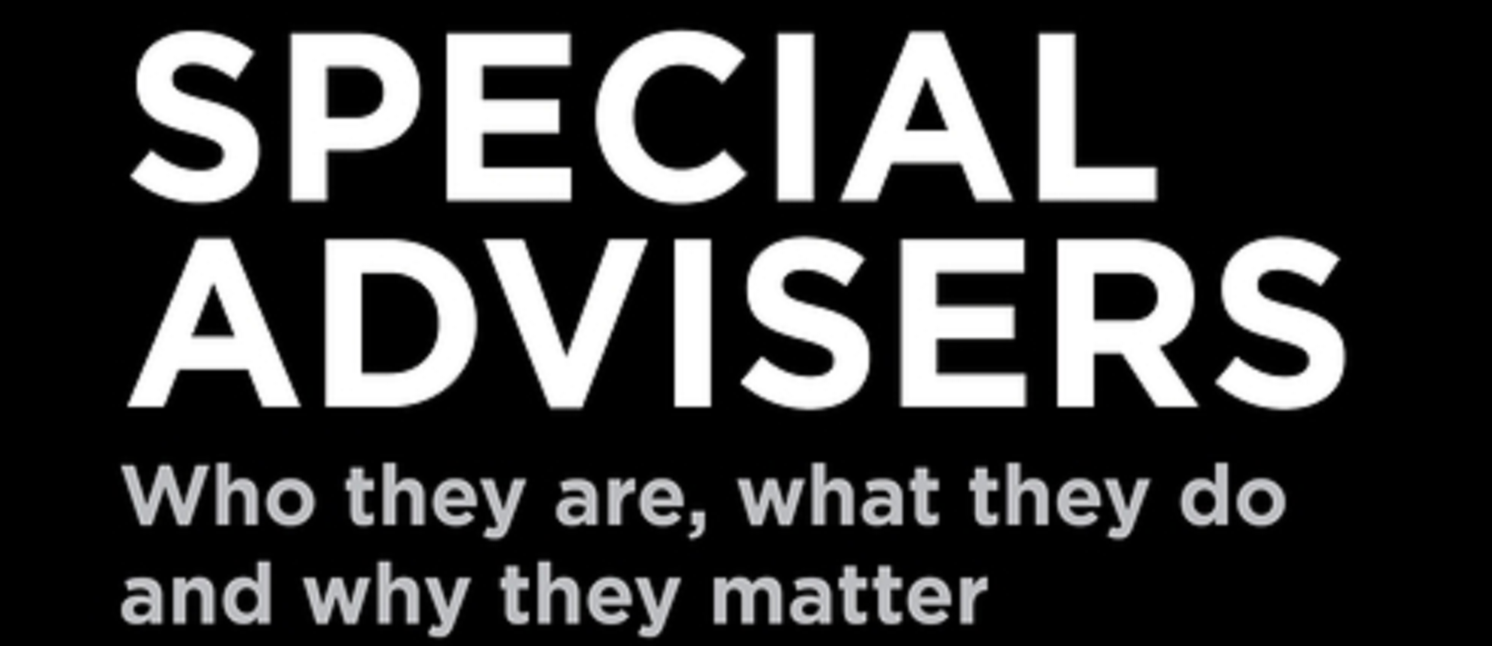 Special Advisers