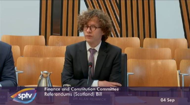 Dr Alan Renwick, Scottish Parliament