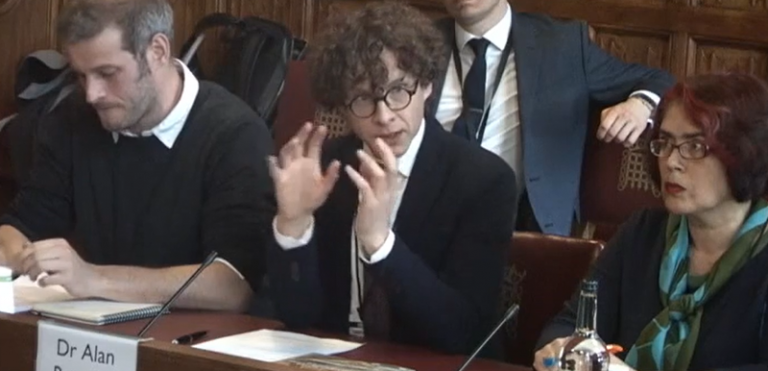 Alan Renwick giving evidence to House of Lords Committee