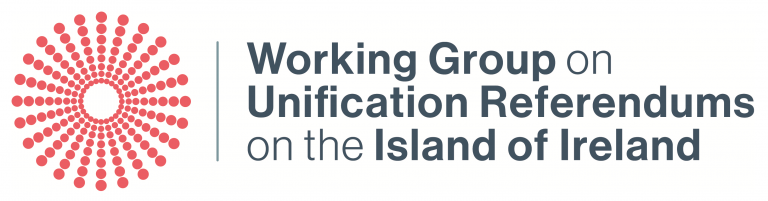 Working group on unifications referendums on the island of Ireland logo