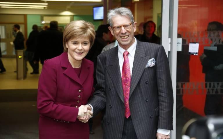 Nicola Sturgeon and Robert Hazell