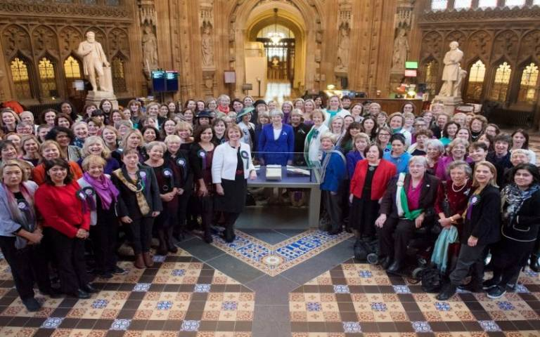 Women in parliament. 100 years anniversary of womens' enfranchisement