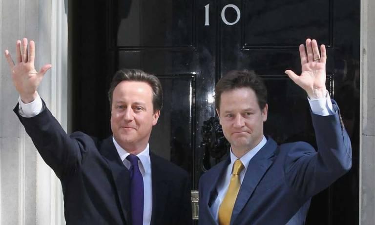 David Cameron and Nick Clegg at No.10