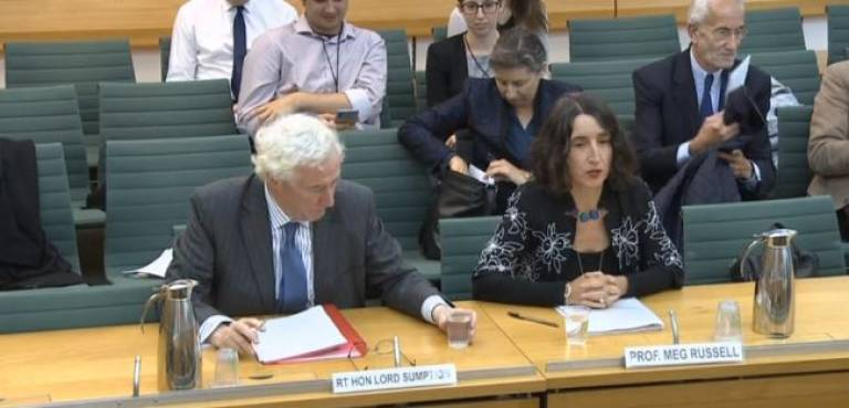 Meg Russell giving evidence to PACAC 8 October 2019