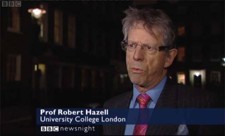 Robert Hazell on Newsnight