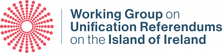 Working Group on Unification Referendums on the Island of Ireland logo