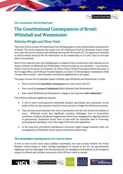 UCL Constitution Unit Briefing Paper