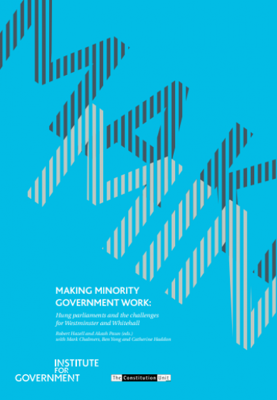 Making Minority Government work - front cover