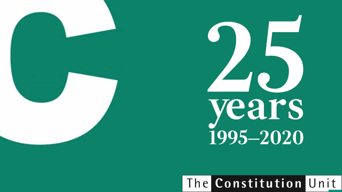 25 years of the Constitution Unit