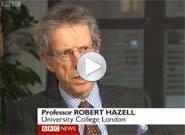 Robert Hazell on BBC News