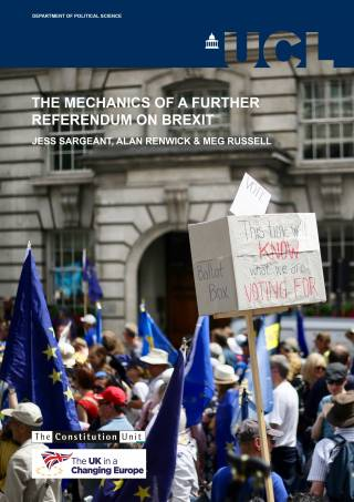 The Mechanics of a Further Referendum on Brexit - report cover