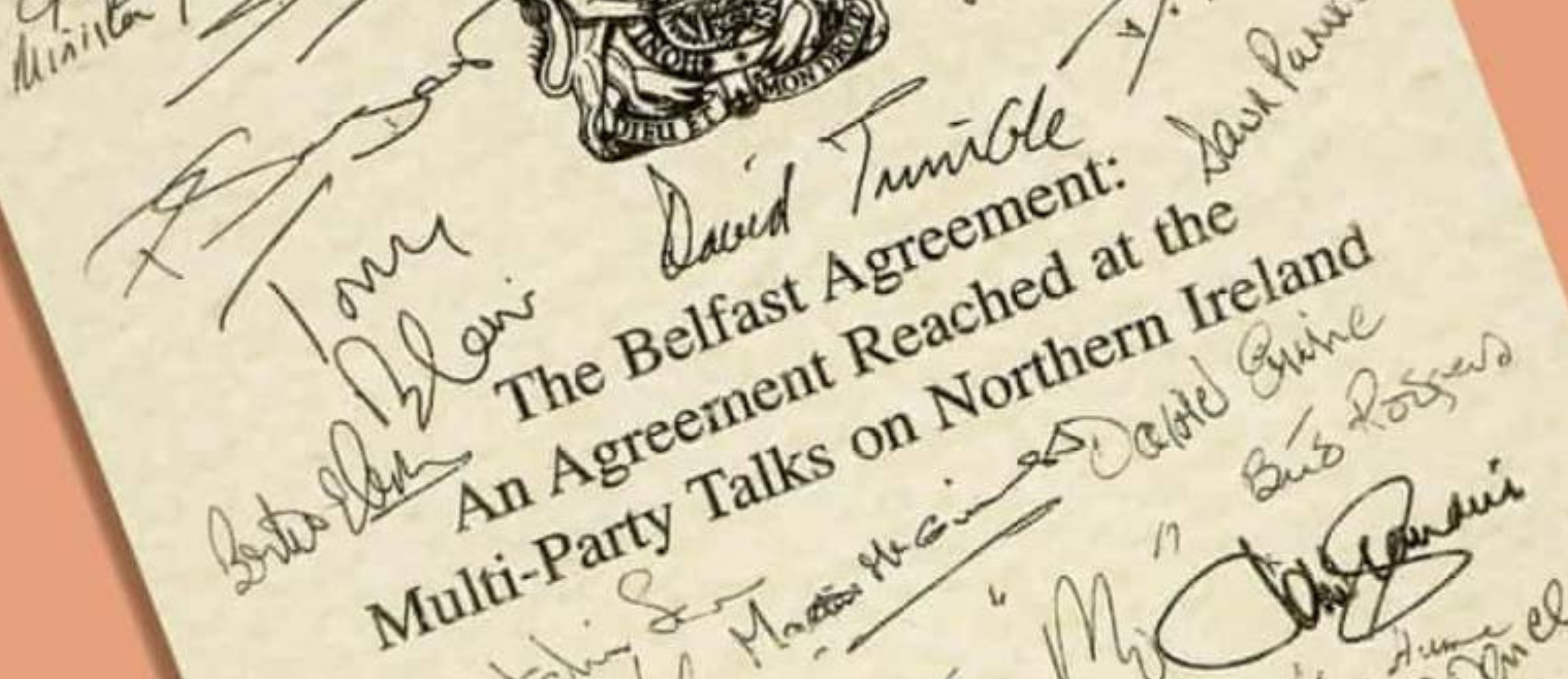 Signatures on the Good Friday/Belfast Agreement