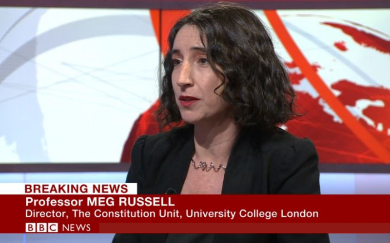 Meg Russell appears on BBC News