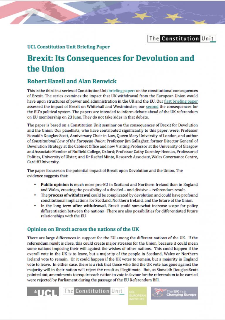 Constitution Unit Briefing Paper 3