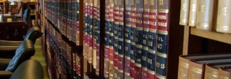 Archive of legislation on bookshelves