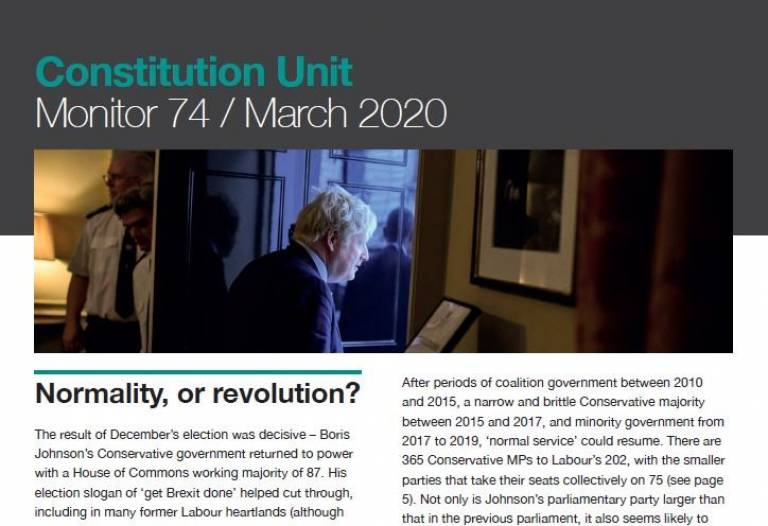 Front cover of Monitor 74: Normality, or Revolution