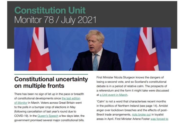 Monitor 78: Constitutional uncertainty on multiple fronts