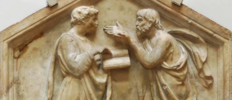 Plato and Aristotle debating