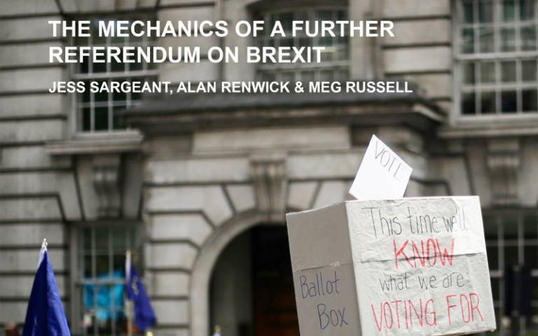 The Mechanics of a further referendum on Brexit