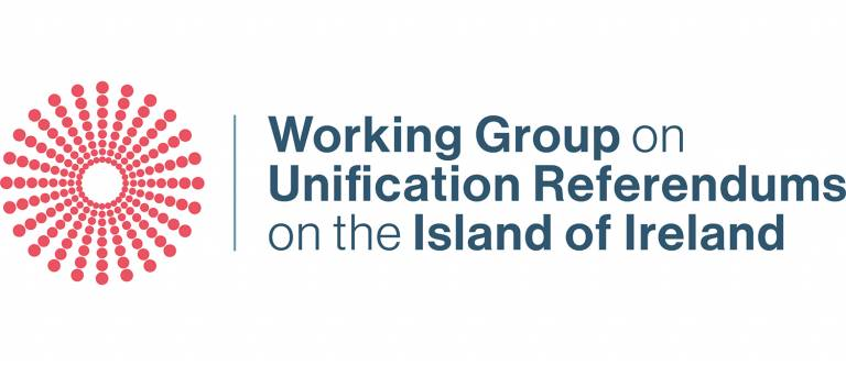 Logo for the Working Group on Unification Referendums on the Island of Ireland