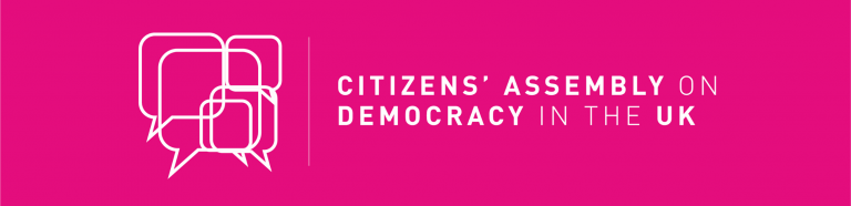Citizens' Assembly on Brexit logo on pink background