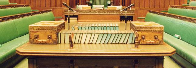 The House of Commons empty chamber