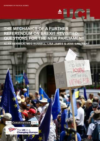 Mechanics of a Further Referendum on Brexit - report cover