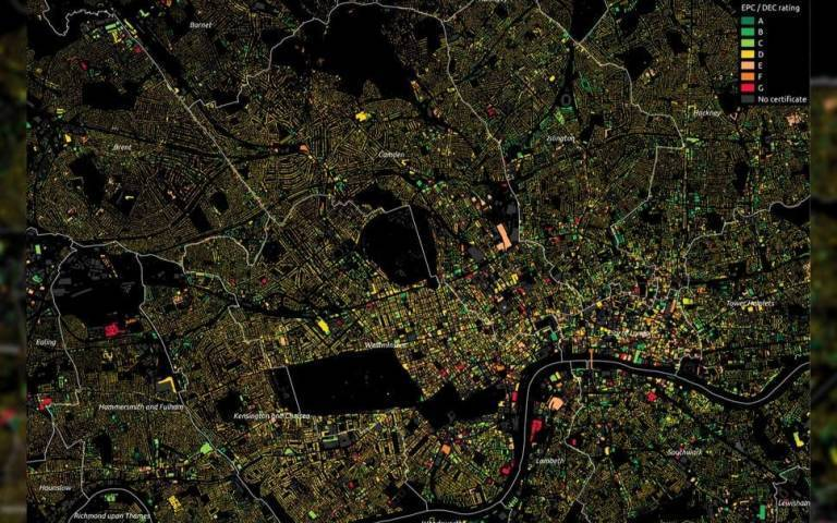 photo of london map showing energy efficiency