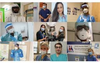 Collage of UCL medical students