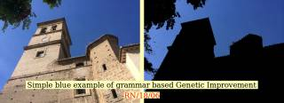 Image to show simple blue example of grammar based Genetic Improvement