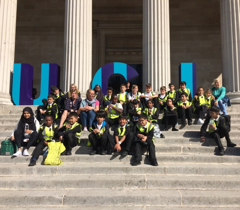 GM yr 5 class outside UCL