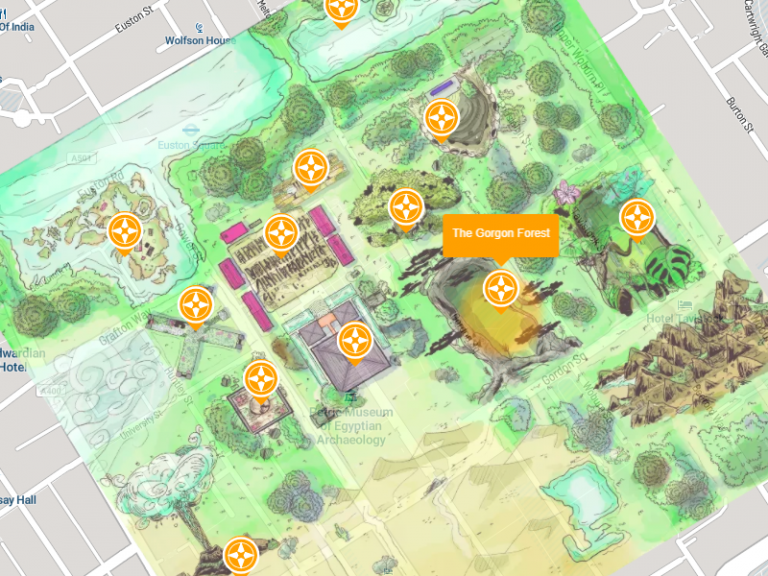Gorgon Forest campus map