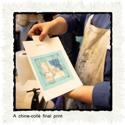 chine-collé final print