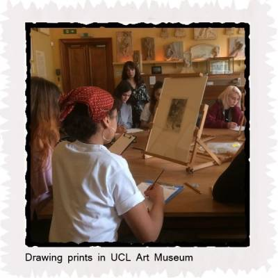 Drawing prints in UCL Art Museum