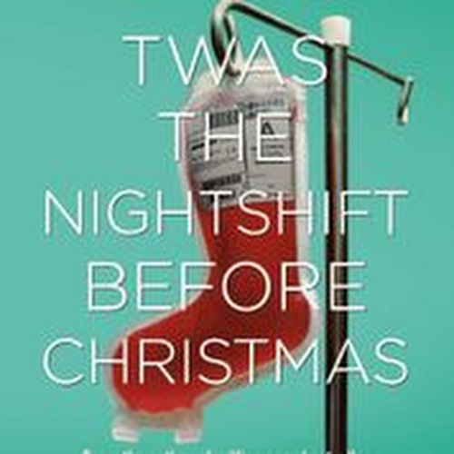 "A Christmas stocking filled with blood, with overlaid text reading ""Adam Kay Twas' The Night Shift before Christmas"""