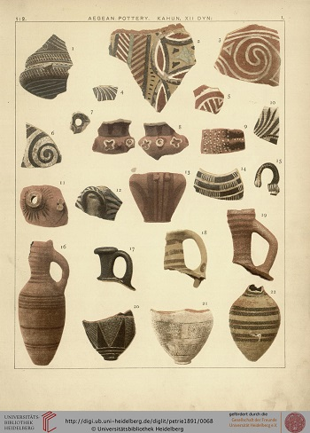 Assorted pottery on a white backdrop