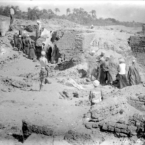 Photo of an excavation