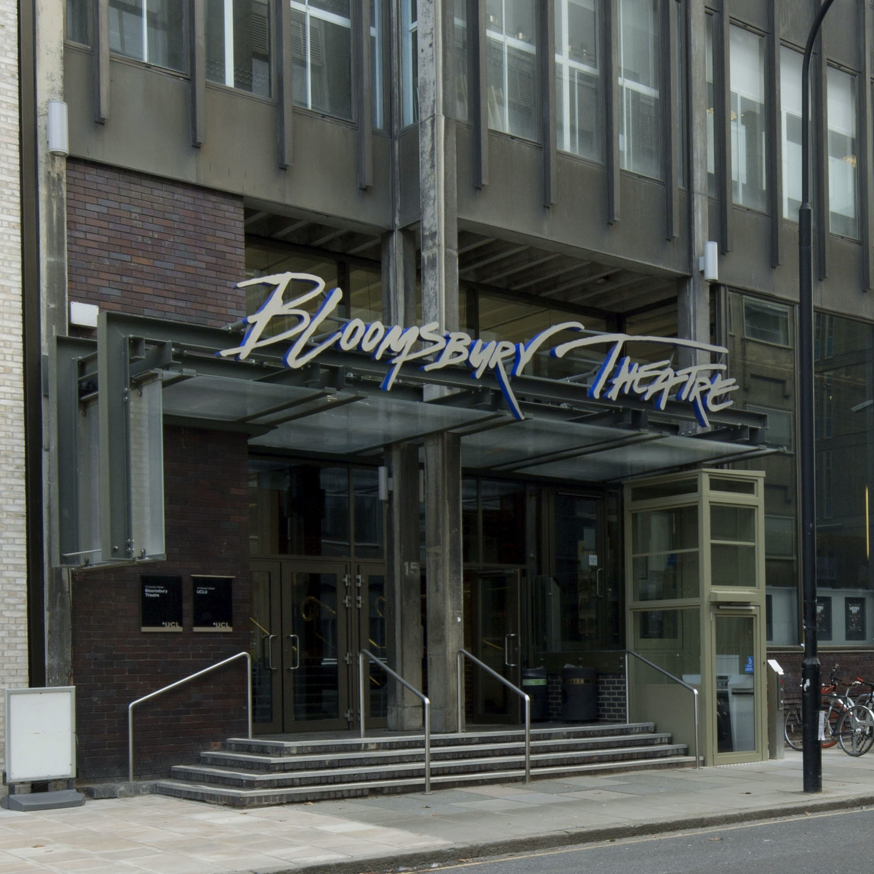 Colour photo of the front of the Bloomsbury Theatre building