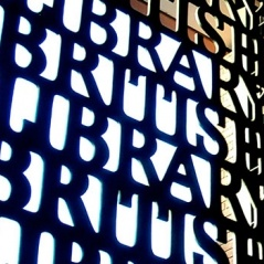 Colour photo of the gateway into the British Library