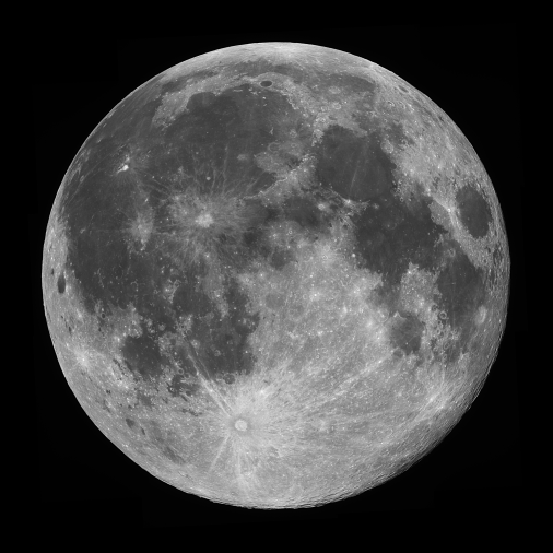 Black and white image of the moon