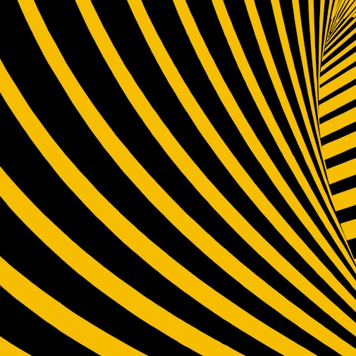 Yellow stripes on black background
