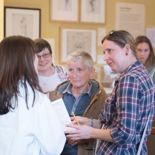 Researchers and members of public in UCL Art Museum
