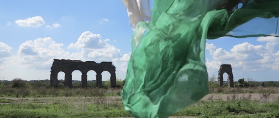 An image of cloth blowing in the wind