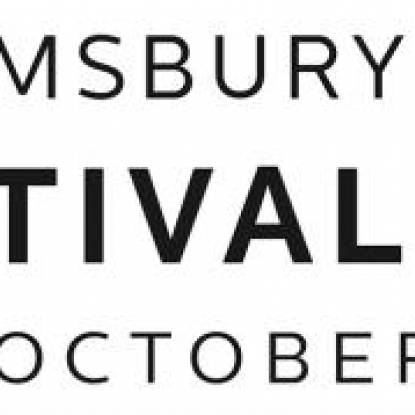 Bloomsbury Festival logo in black writing on a white background