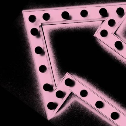 Pink neon arrow