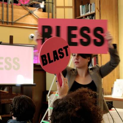 Performance by Naomi Fitzimmons at UCL Art Museum Blast/Bless 2016