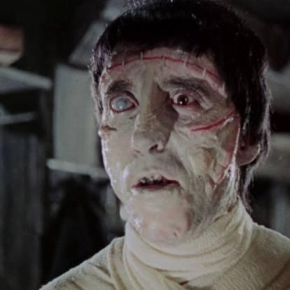 Colour photo of Frankenstein from the Hammer horror film 'Curse of Frankenstein'