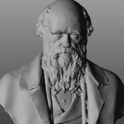 3d printed data of darwin bust
