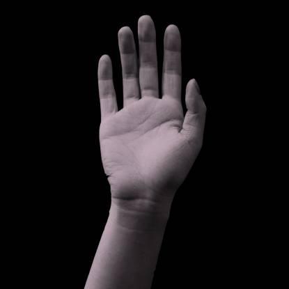 teen hand up
