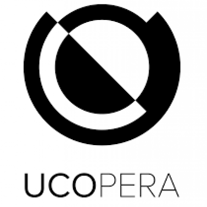 UCOpera Logo in black on a white background